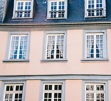 Pink Building Facade by PatiDesigns