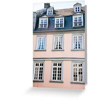 Pink Building Facade Greeting Card