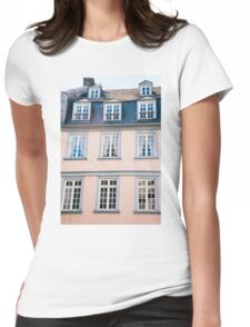 Pink Building Facade Womens Fitted T-Shirt