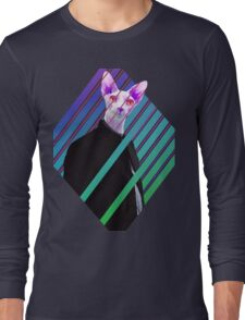 Sphynx in a chinese suit Long Sleeve T-Shirt