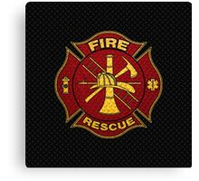 Firefighter Diamond Plate Design Canvas Print