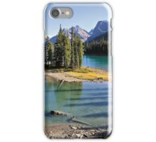 Famous Spirit Island on Maligne Lake, Jasper NP iPhone Case/Skin