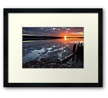"""""""Winter Sunset"""" Framed Print"""