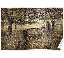 Country Gate ~ vintage Poster