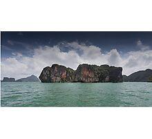 Limestone islands in Thailand Photographic Print