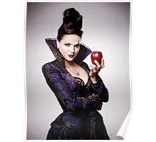Regina Mills as The Evil Queen with apple Poster