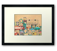 Traffic Jam – A Postcard from India Framed Print