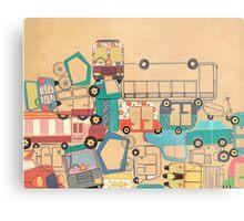 Traffic Jam – A Postcard from India Metal Print