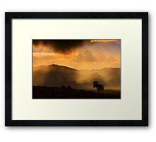 Thunder Storm Across the High Desert  Framed Print