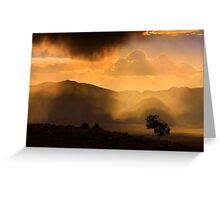 Thunder Storm Across the High Desert  Greeting Card