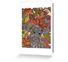 Arabella and the flowers Greeting Card