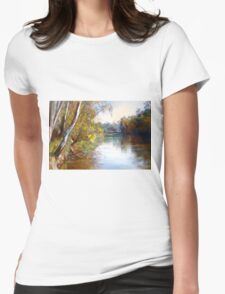 Wattle Time - Goulburn River Womens Fitted T-Shirt
