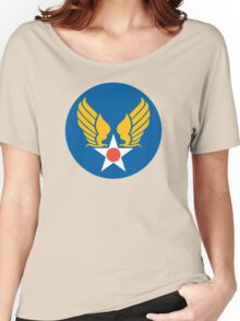 United States Roundel 2 WW2 Women's Relaxed Fit T-Shirt