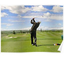 Golf Swing F Poster
