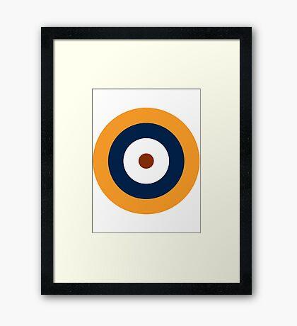 British Roundel WW2 Framed Print