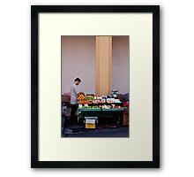 Fruit Seller, Penang, Malaysia Framed Print