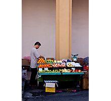 Fruit Seller, Penang, Malaysia Photographic Print