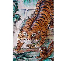 Temple Tiger, Penang, Malaysia Photographic Print