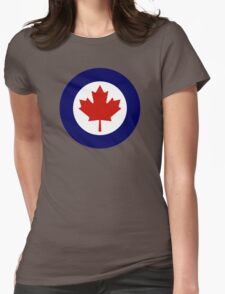 Canadian Roundel WW2 Womens Fitted T-Shirt
