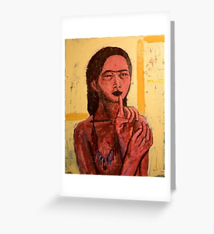 Red Indian Girl Greeting Card