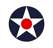United States Roundel WW2 Photographic Print