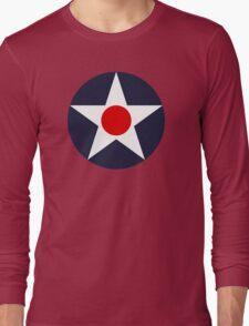 United States Roundel WW2 Long Sleeve T-Shirt