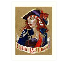 Captain Red Dragon Art Print