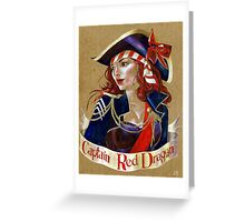 Captain Red Dragon Greeting Card