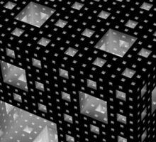 Menger Sponge (inverted) Sticker