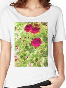 three roses Women's Relaxed Fit T-Shirt