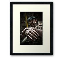 Coal Worker or Story telling hands Framed Print