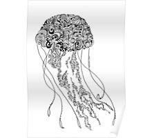 Zentangle Fine liner Jellyfish Poster