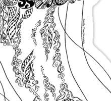 Zentangle Fine liner Jellyfish Sticker