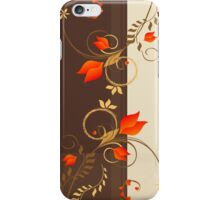 Golden Floral Decor Pattern Modern Illustration iPhone Case/Skin