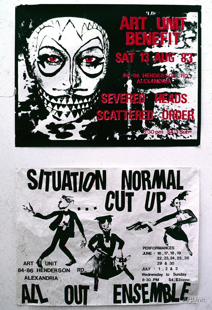 two Art Unit posters from the early 80's by ArtUnit