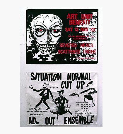 two Art Unit posters from the early 80's Photographic Print