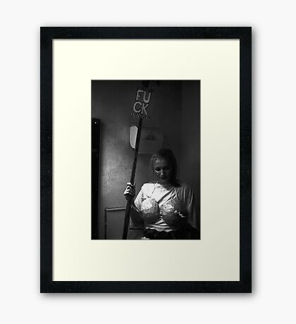 Performer at Sedition at the Sydney Trade Union Club 1983 Framed Print