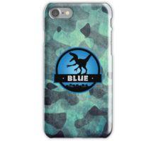 Velociraptor Squad: Blue Team iPhone Case/Skin