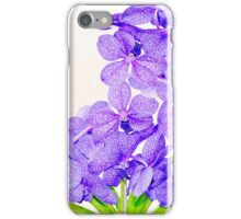 Cute purple green orchids flowers pattern  iPhone Case/Skin