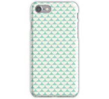 Vintage green white scallop pattern iPhone Case/Skin