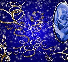 Enchanted Blue Rose Gem Series # 1 by Junior Mclean