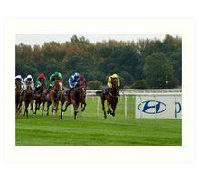 Doncaster Races Art Print