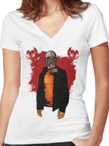The Haunted Hunter Women's Fitted V-Neck T-Shirt