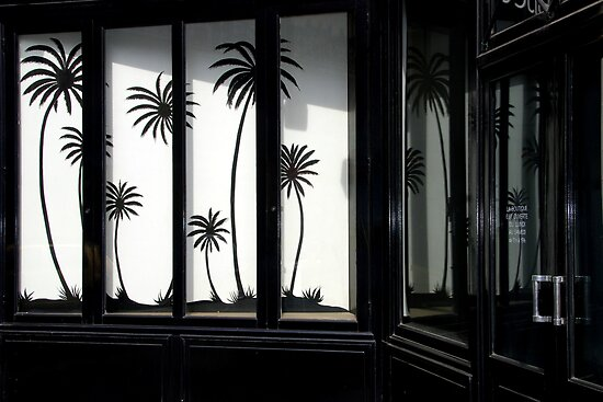 Paris, Black palm trees. by Jean-Luc Rollier
