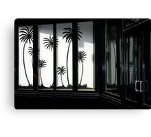 Paris, Black palm trees. Canvas Print