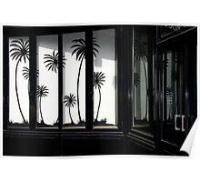 Paris, Black palm trees. Poster
