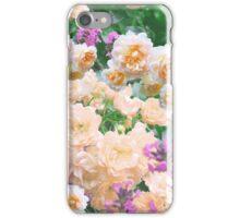 Beautiful orange white pink roses floral iPhone Case/Skin