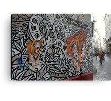 Paris, rue des Rosiers. Metal Print