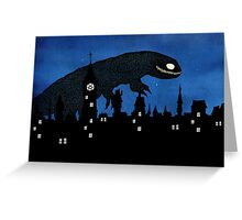 Cityscape monster Greeting Card