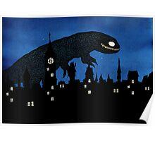Cityscape monster Poster